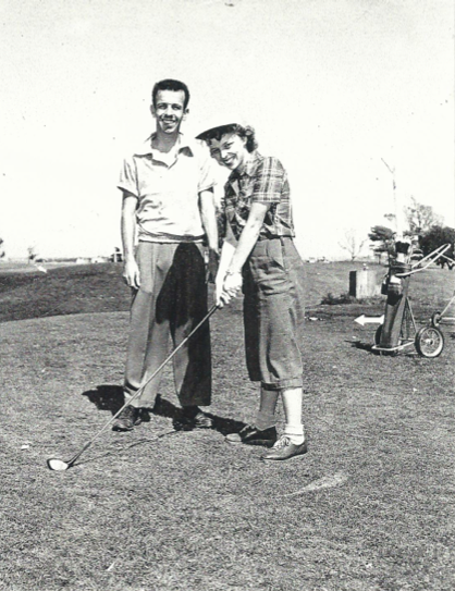 Bill and Norma Deeble where they met and have spent much of their lives together - on a golf course.
