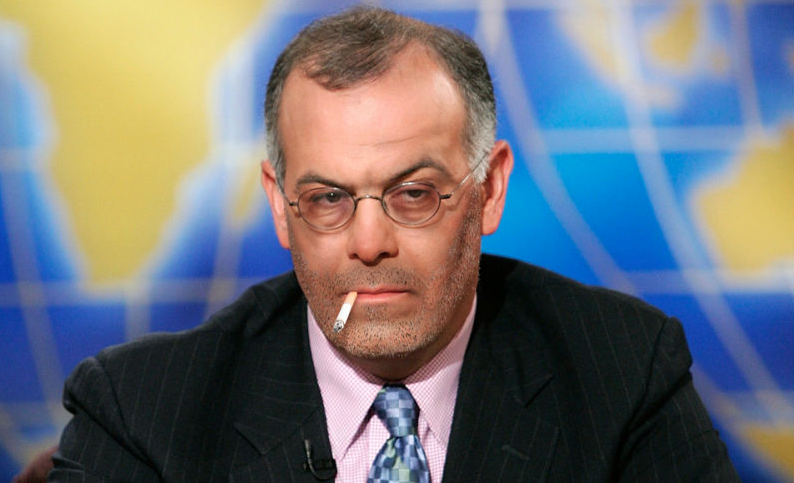 David Brooks during a commercial break on Meet The Press.